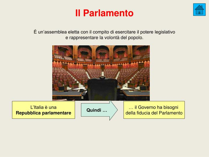 È un'assemblea eletta con il compito di esercitare il potere legislativo