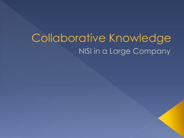 Collaborative knowledge