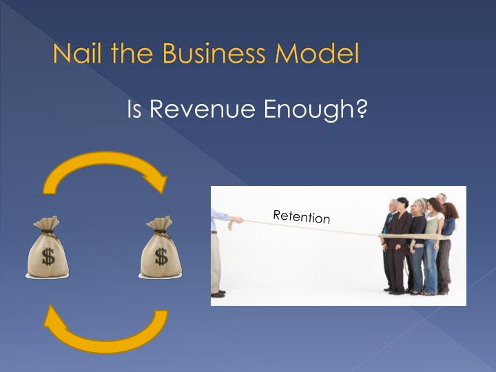 Nail the Business Model