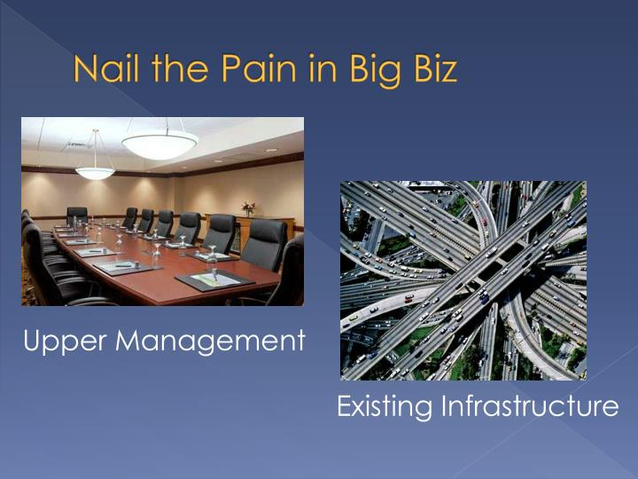 Nail the pain in big biz
