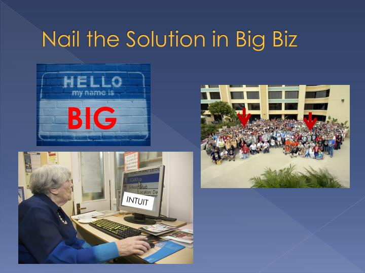 Nail the Solution in Big Biz