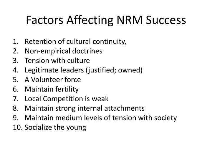 Factors Affecting NRM Success