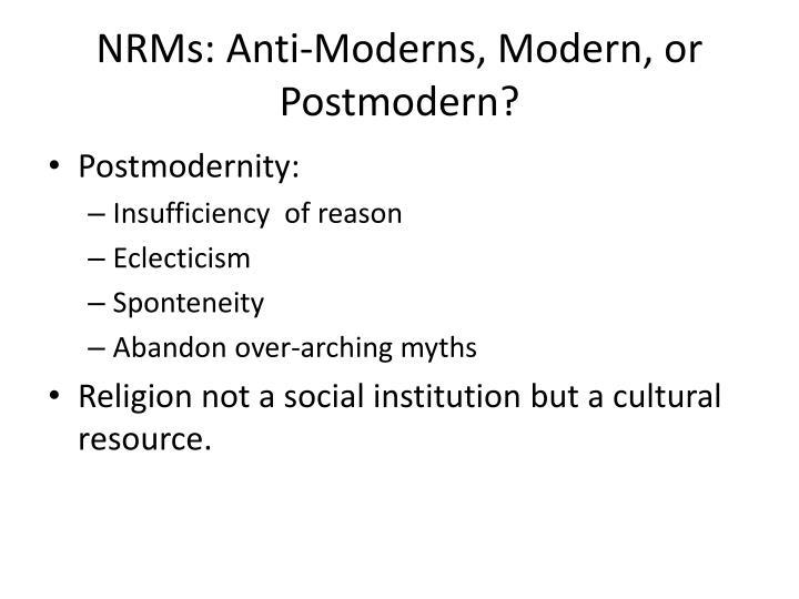 Postmodernity: