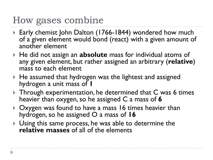 How gases combine