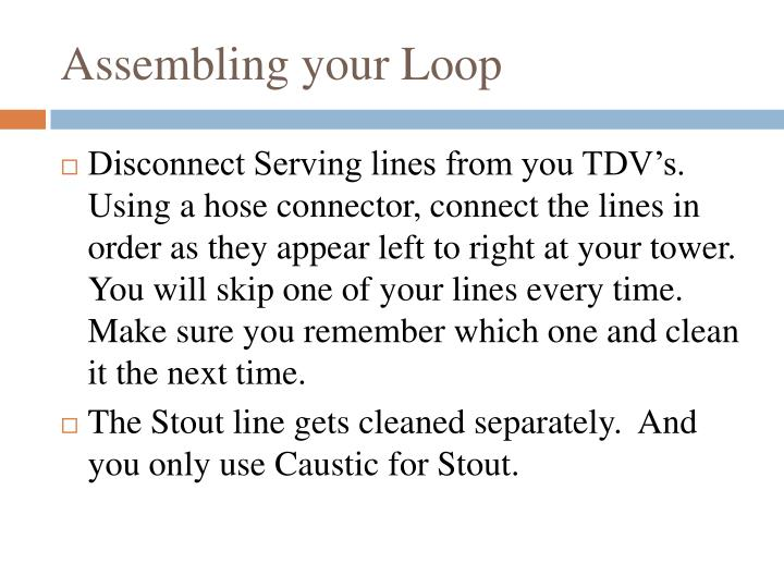 Assembling your Loop