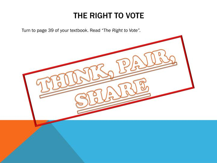 The right to vote
