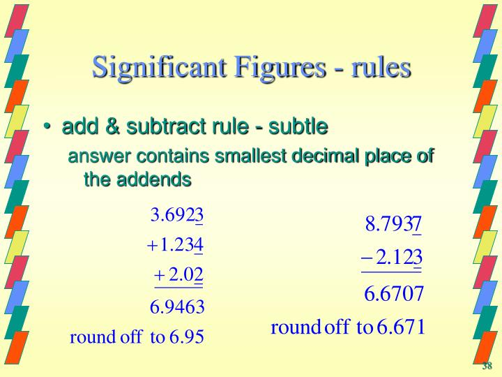 Significant Figures - rules