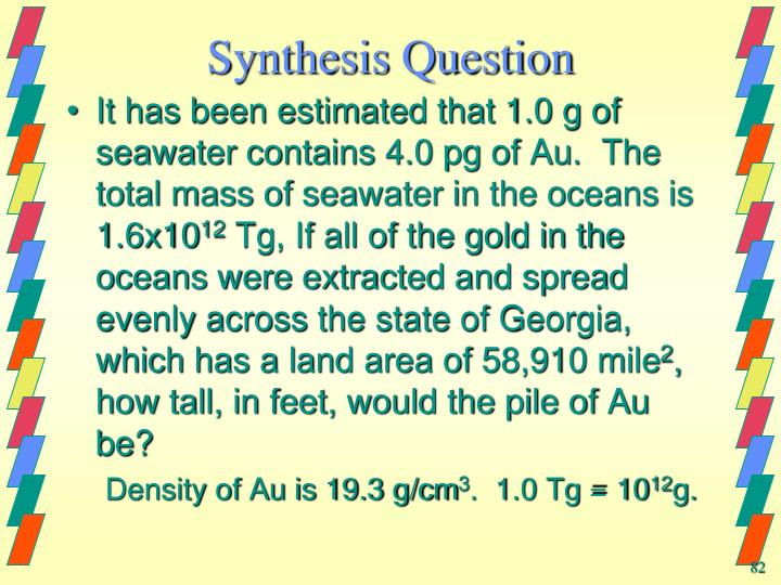 Synthesis Question