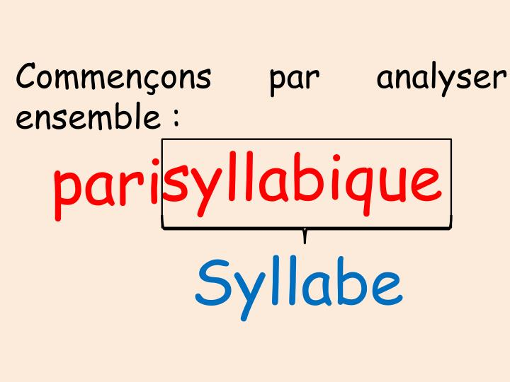 Commençons par analyser ensemble :