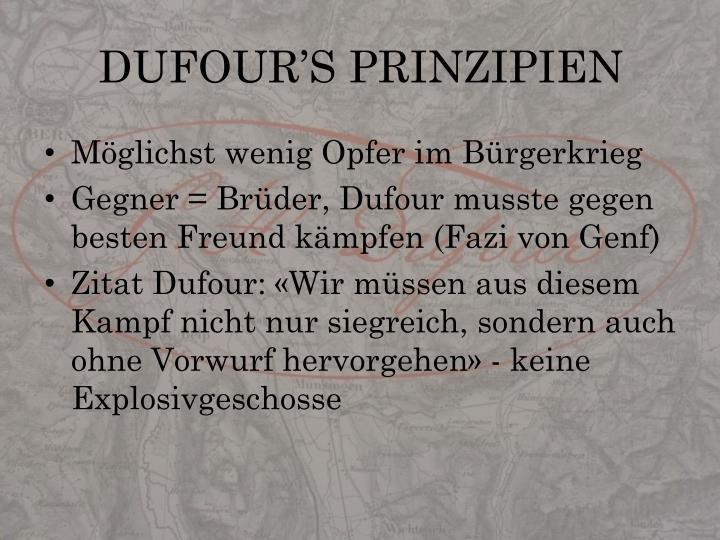 DUFOUR'S PRINZIPIEN