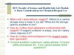 dcu faculty of science and health safe lab module 2 basic considerations for chemical reagent use10