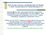 dcu faculty of science and health safe lab module 2 basic considerations for chemical reagent use5