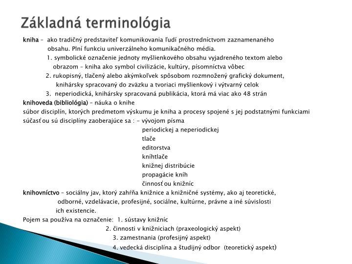 Základná terminológia