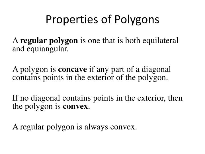 Properties of polygons1