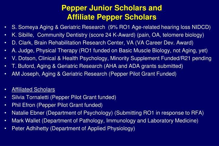 Pepper Junior Scholars and
