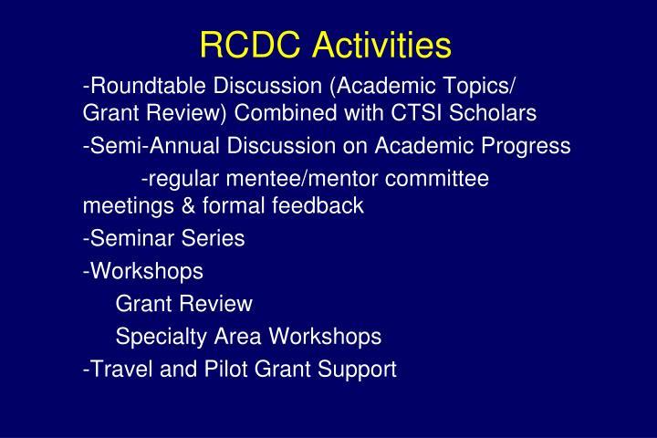 RCDC Activities
