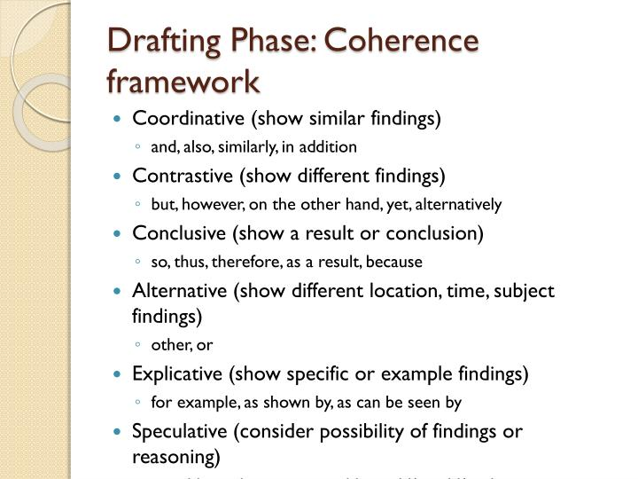 Drafting Phase: Coherence framework