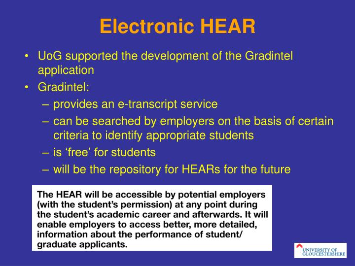 Electronic HEAR