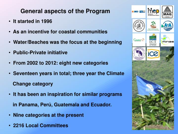 General aspects of the Program