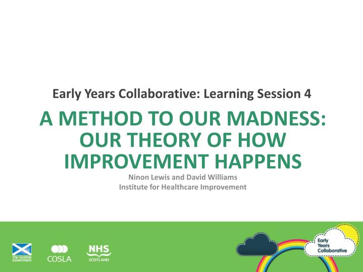 Early Years Collaborative: Learning Session 4