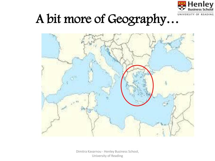 A bit more of Geography…