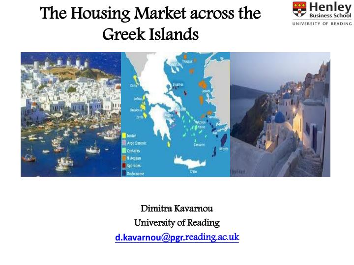 The housing market across the greek islands