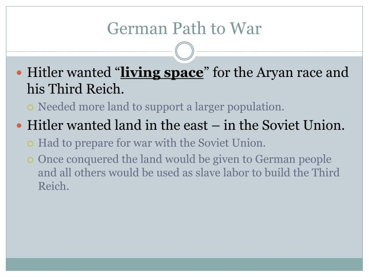 German Path to War