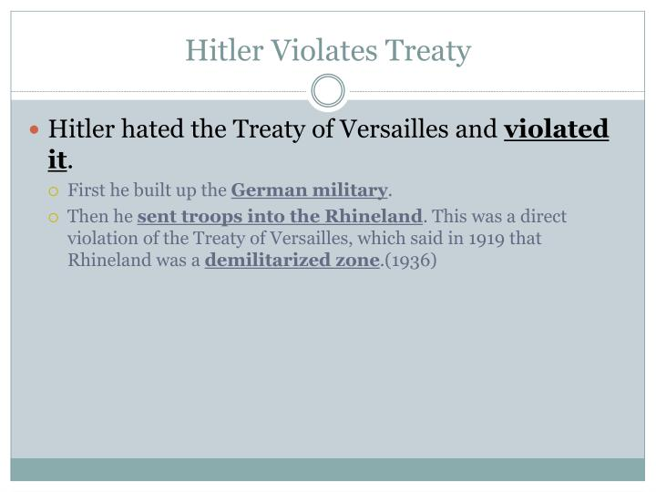 Hitler Violates Treaty