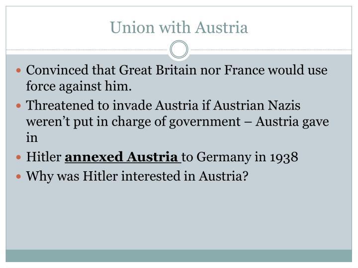 Union with Austria