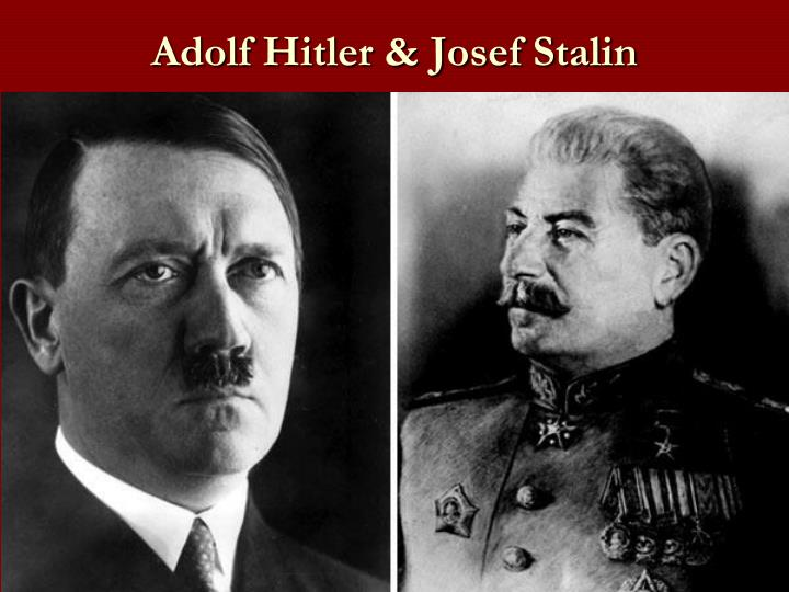the race of joseph stalin and adolf hitler to power Who would be subordinate in the new order to the teutonic master race with joseph stalin's soviet adolf hitler's accession to power in.