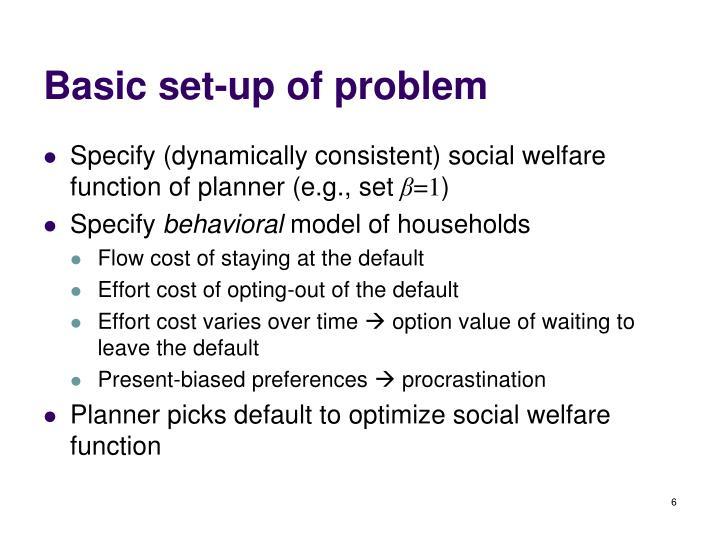 Basic set-up of problem