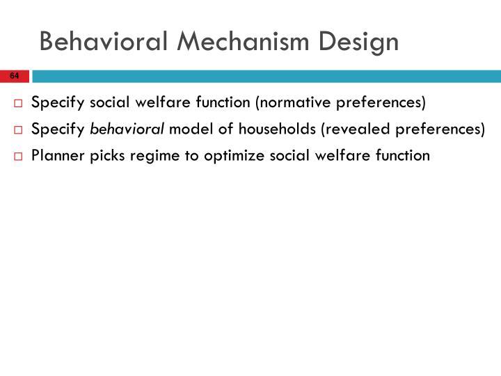 Behavioral Mechanism Design