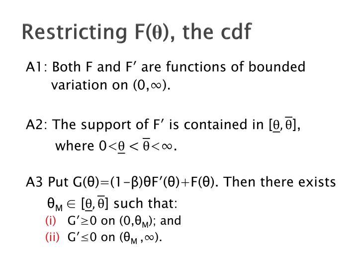 Restricting F(