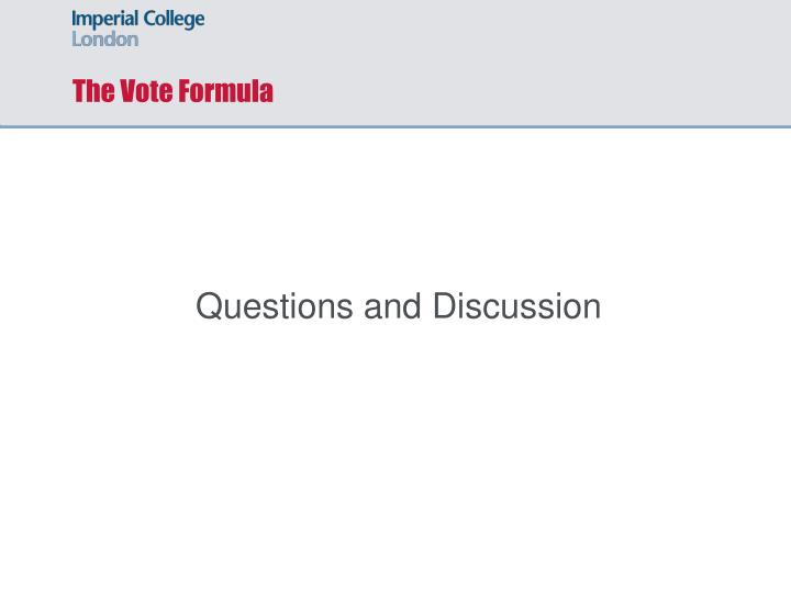 The Vote Formula