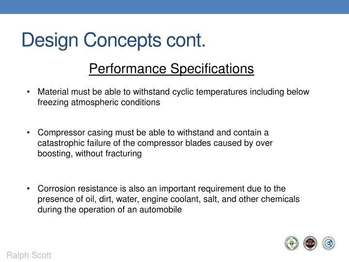 Design Concepts cont.
