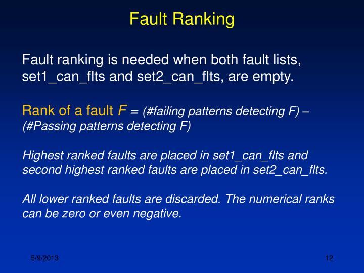 Fault Ranking