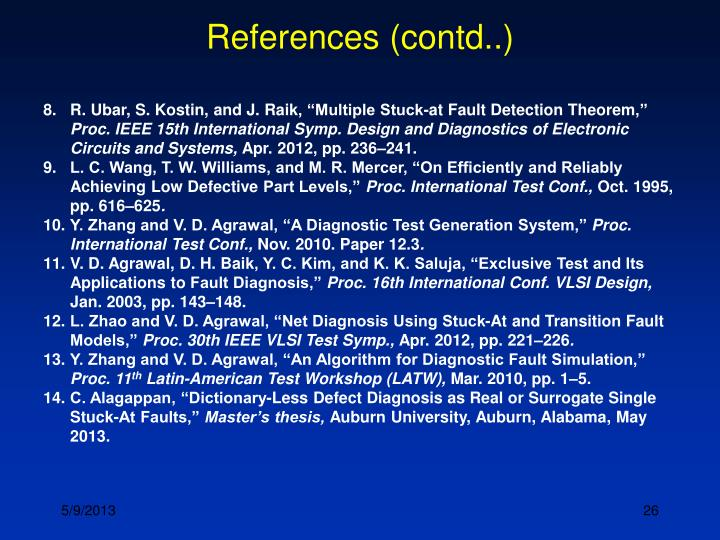 References (contd..)