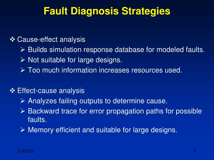 Fault Diagnosis Strategies