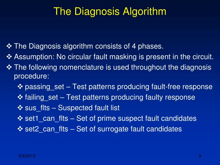 The Diagnosis Algorithm