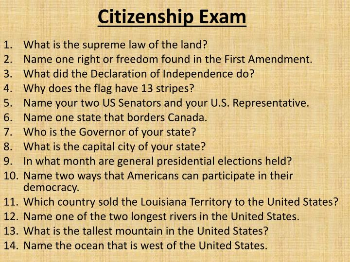 Citizenship Exam