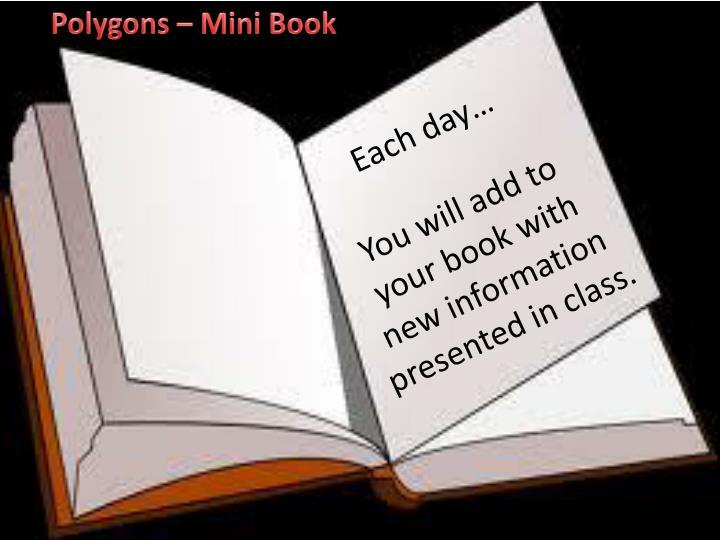 Polygons – Mini Book