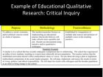 example of educational qualitative research critical inquiry