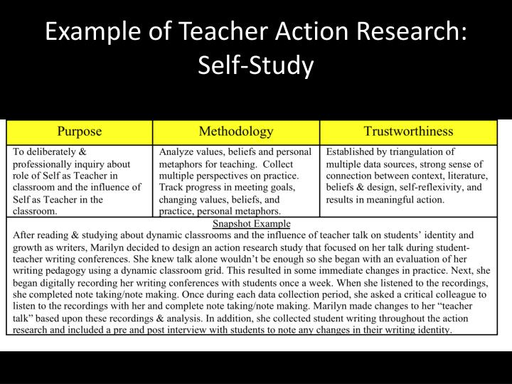 Example of Teacher Action Research: Self-Study