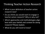 thinking teacher action research