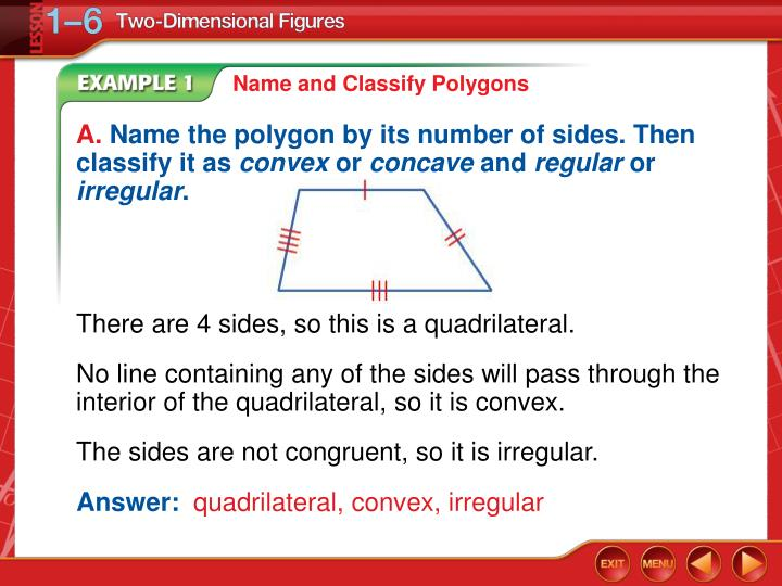 Name and Classify Polygons