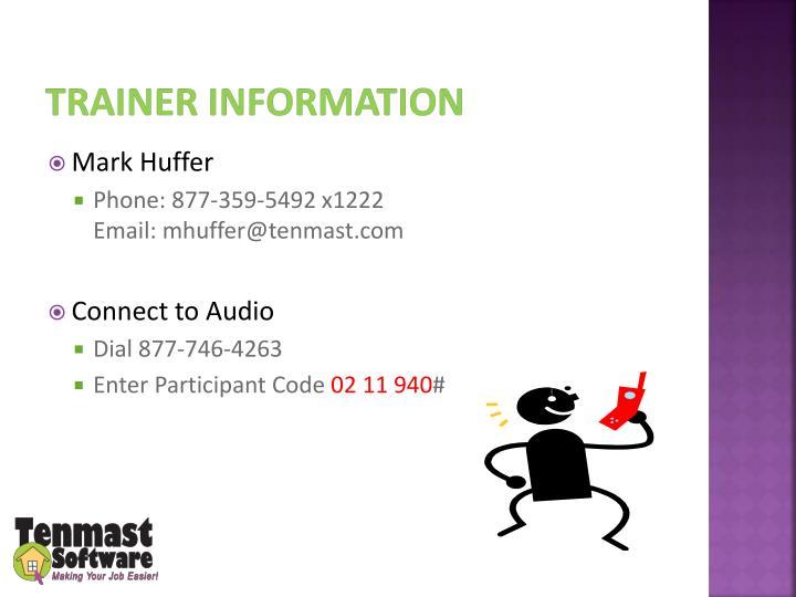 trainer information