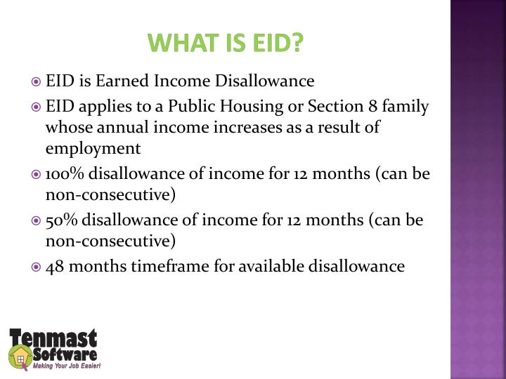 What is EID?