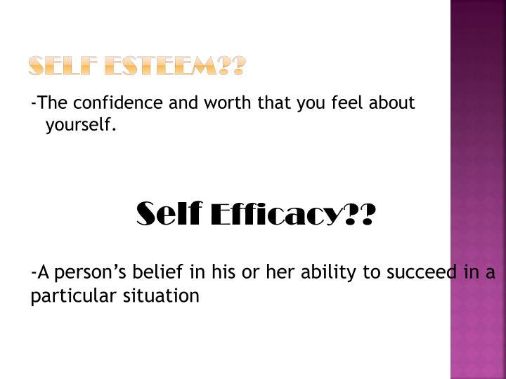 Self Esteem??