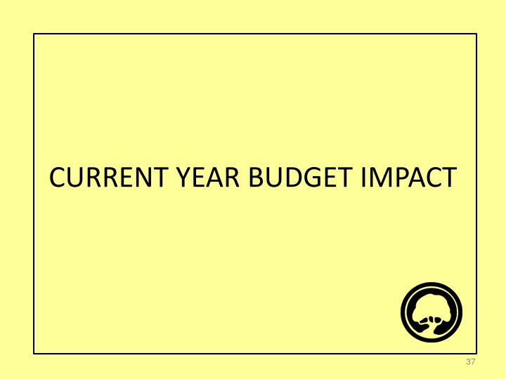 CURRENT YEAR BUDGET IMPACT