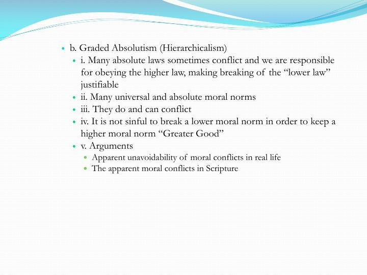b. Graded Absolutism (